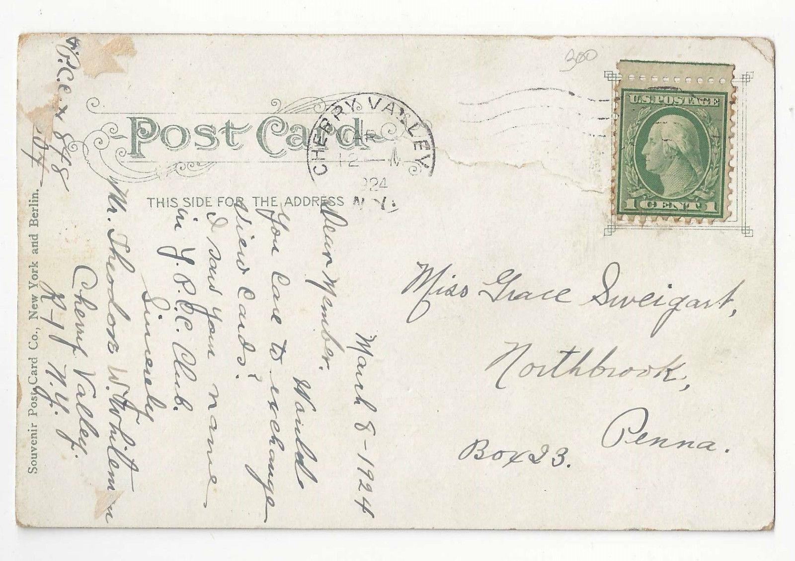 NY Soldiers Monument Civil War Farnsworth Park Mt. Vernon New York Vtg Postcard