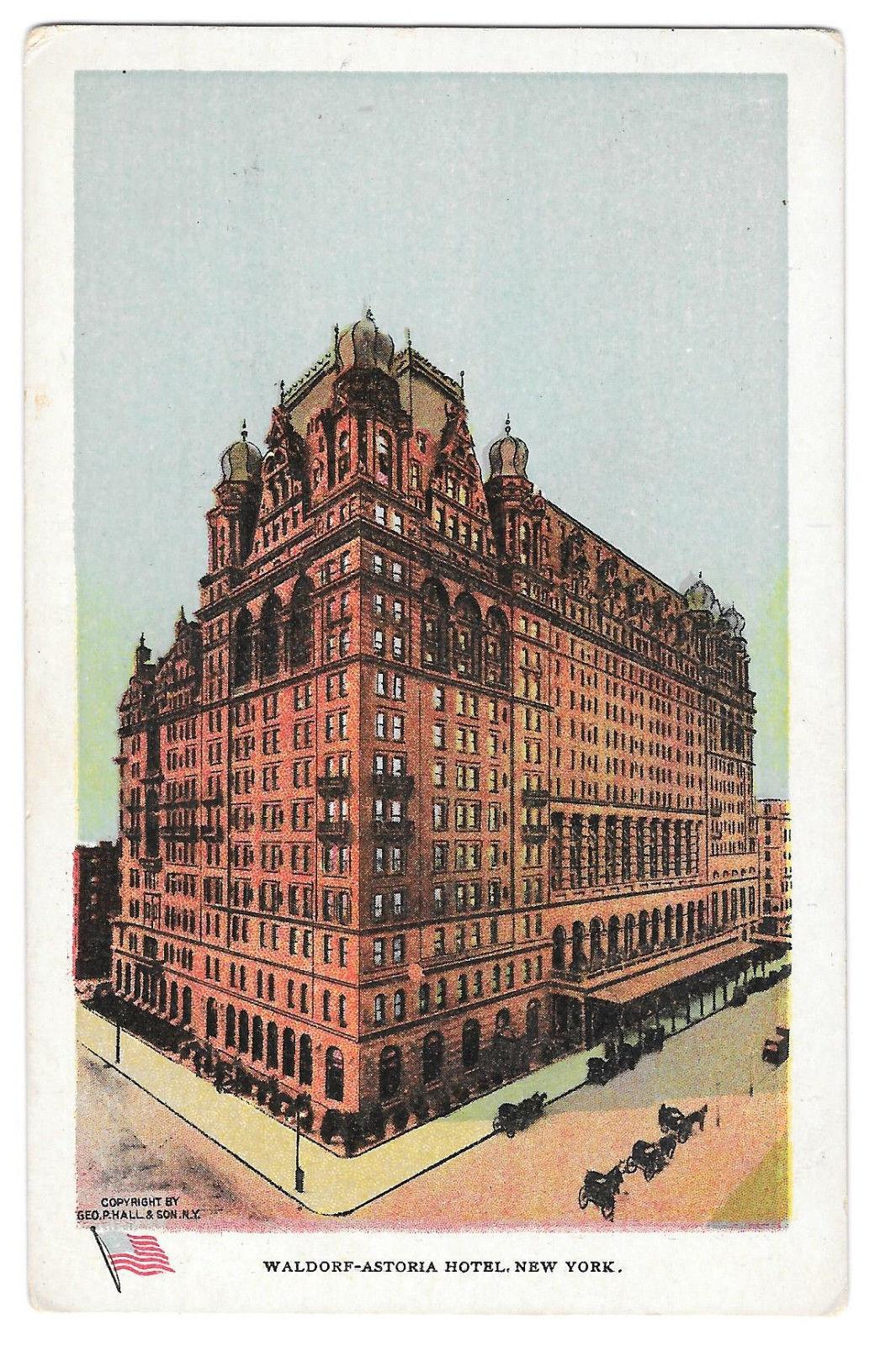 NY Waldorf Astoria Hotel New York City Vtg Ullman Postcard Geo P Hall