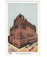 NY Waldorf Astoria Hotel New York City Vtg Ullman Postcard Geo P Hall - $4.74