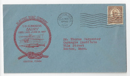 Naval Cover USS Saury SS-189 Submarine Keel Laid Electric Boat Co Groton... - $4.74
