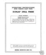 Craftsman 11 3/4 DRILL PRESS Manual Model 101.03541 - $10.88