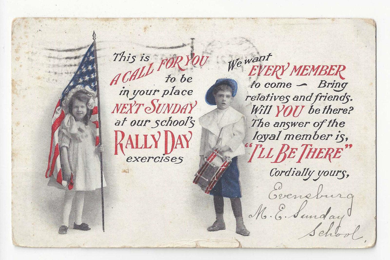 PA Ebensburg Rally Day M. E. Sunday School ca 1915