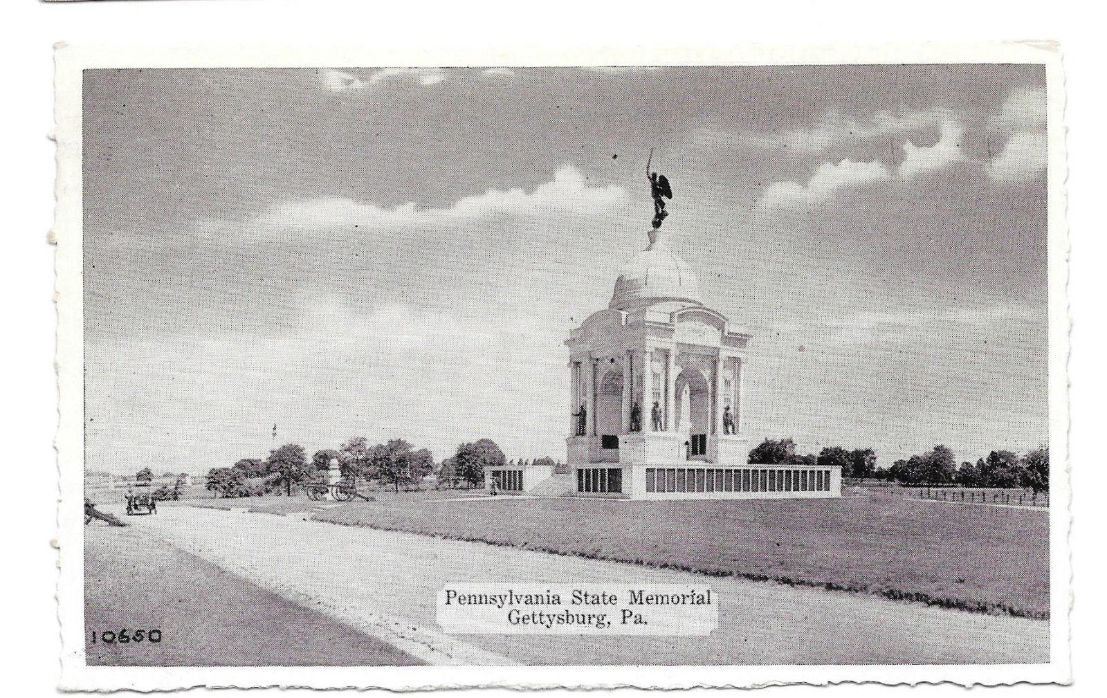 PA Gettysburg Pennsylvania State Memorial Civil War Vtg Buohl Postcard