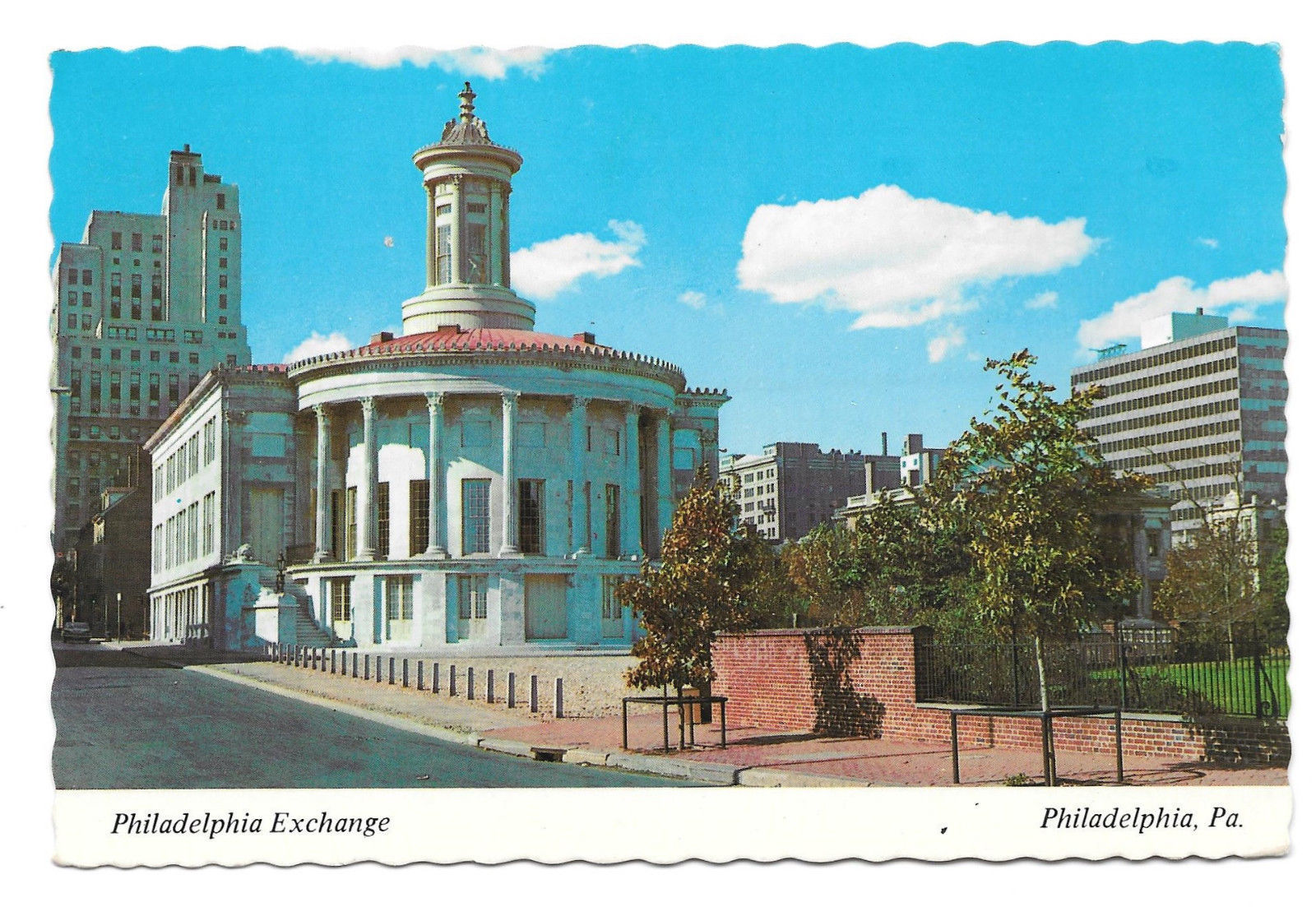 PA Philadelphia Exchange Vtg Mike Roberts1975 Postcard 4X6 Stock Exchange