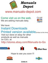 Cub Cadet 3654,3660 Operation & Service Manual - $14.36
