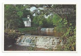 PA Pocono Mountains Hickory Run State Park Chapel Falls 1999 Postcard 4X6 - $4.74