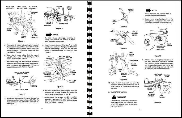 """Cub Cadet 40"""" Snow Thrower Attachment Operators Manual Model No. 190-340-100"""