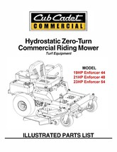 Cub Cadet Hydrostatic ZeroTurn Riding Mower Part Manual Model#.Enforcer ... - $10.88