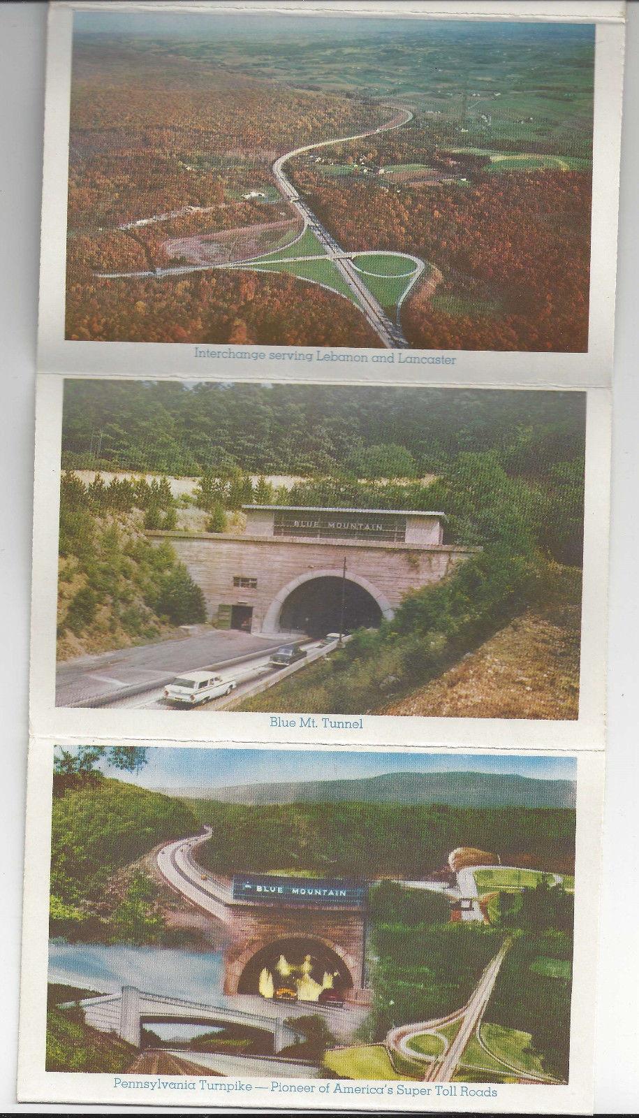 PA Souvenir Folder Pennsylvania Turnpike 12 Views Highway Howard Johnson