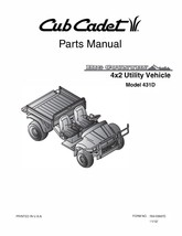 Cub Cadet Big Country 4x2 utility vehicle Operator Manual No. 431D - $10.88