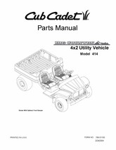 Cub Cadet Big Country 4x2 utility vehicle Operator Manual No. 414 - $10.88