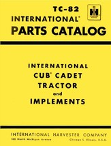 International Cub Cadet Tractor and Implements Parts Catalog Model No. T... - $10.88