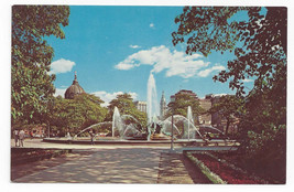 Philadelphia PA Swann Memorial Fountain Logan Circle 1964 Vintage Postcard - $4.74