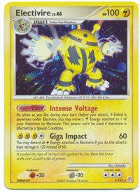 Electivire 3/130 Holo Rare Diamond & Pearl Pokemon Card