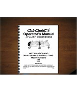"Cub Cadet 48"" & 54"" Mower Deck Operator's Manual Model 190-289-100 /190-... - $11.87"