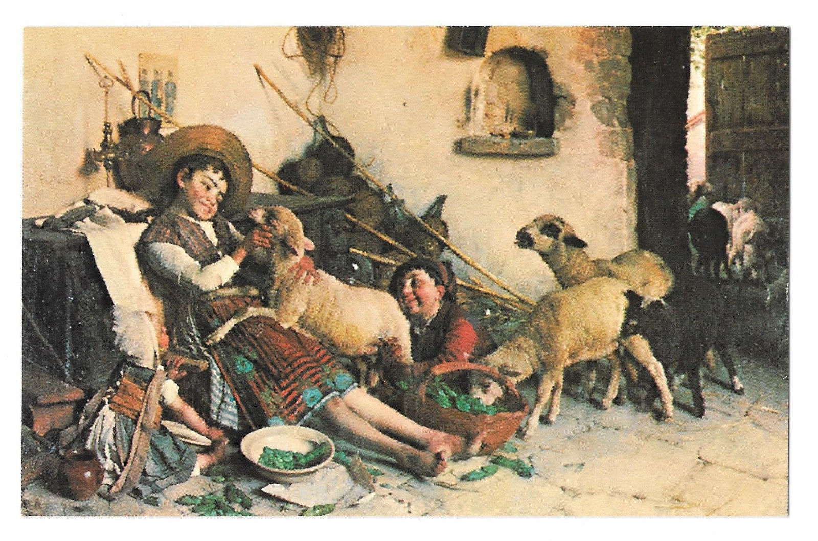 Playmates Boys Sheep Gaetano Chiericci Haussner's Restaurant Baltimore MD Art