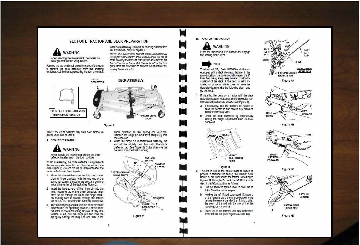 "Cub Cadet 48"" & 54"" Mower Deck Operator's Manual Model 190-289-100 /190-290-100"