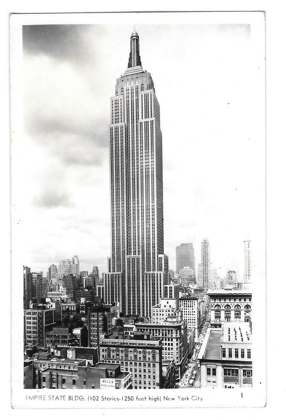 RPPC  NY Empire State Building New York City Vtg Real Photo Postcard A. Mainzer