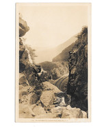 RPPC NH White Mountains Great Rock Cut Crawfford Notch Vtg Real Photo Po... - $7.40