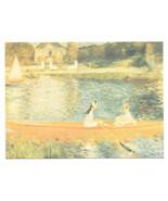 Renoir Seine at Asnieres Impressionist Painting Vtg Art Postcard 4X6 - $4.74