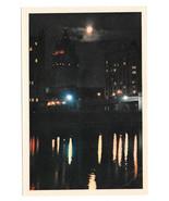 Russia USSR Moscow Smolenskaya Embankment Night Vtg Soviet Era Postcard ... - $7.40