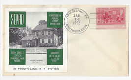 SEPAD 1952 14th Annual Stamp Exhibition Cover Philadelphia PA 30th st RR... - $5.50