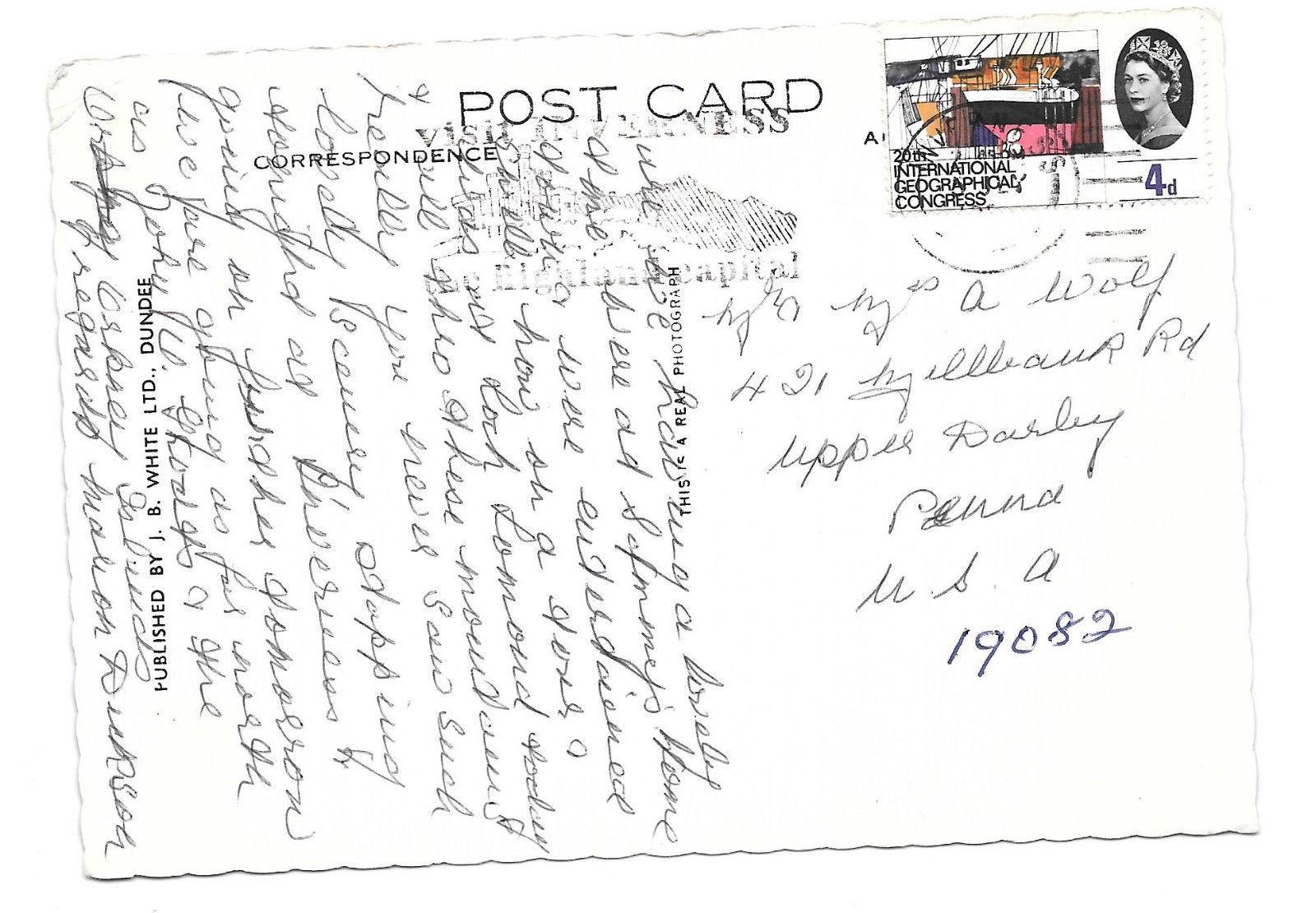 RPPC UK Scotand Inverness Three Sisters of Glen  Coe Vintage Postcard 4X6