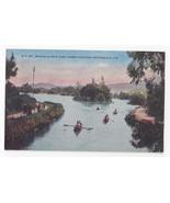 San Francisco Bay CA Golden Gate Park Boating Stow Lake Vntg PNC Postcar... - $4.99