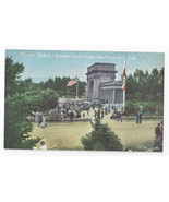 San Francisco CA Music Stand Golden Gate Park Vntg PNC Postcard S.F. 130 - $6.36
