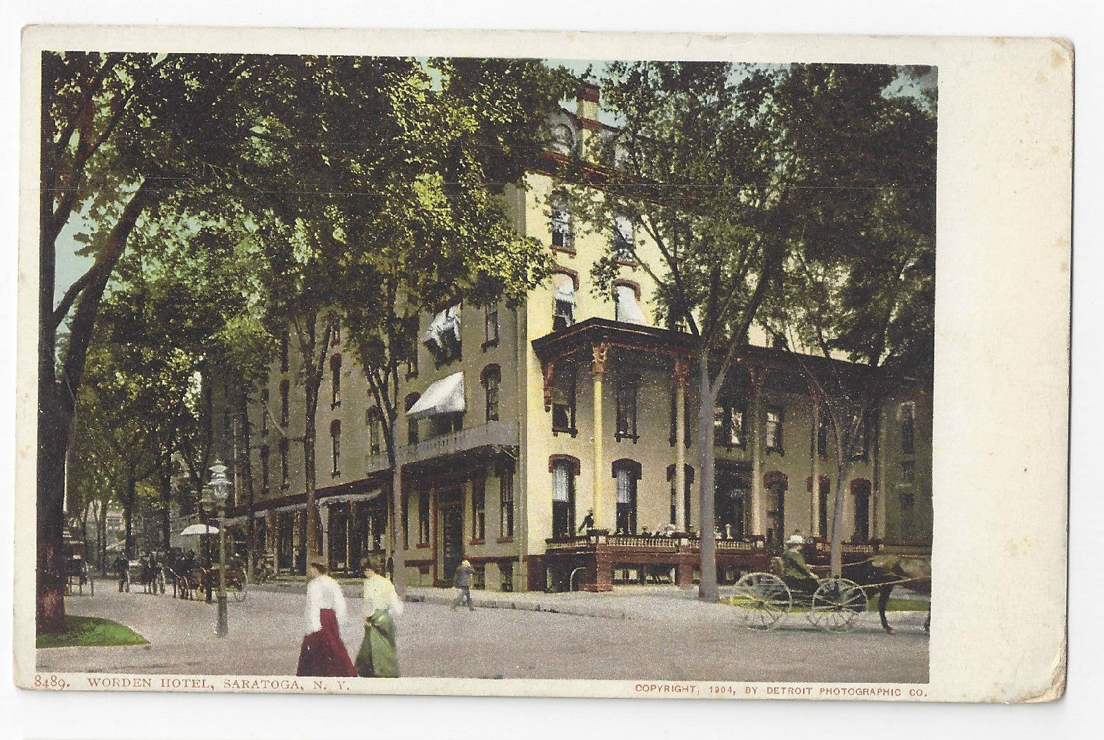 Saratoga NY Worden Hotel ca 1905 Undivided Back Postcard