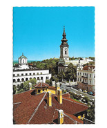 Serbia Belgrade Cathedral Orthodox Patriarchate Vtg Postcard 4X6 - $7.40
