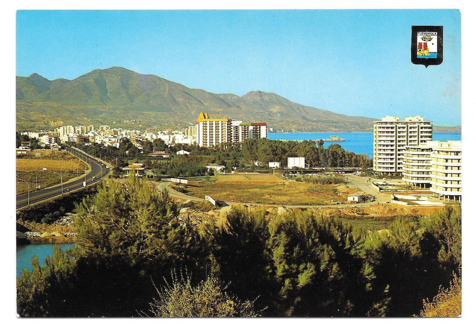 Spain Costa del Sol Fuengirola Birds Eye View Vtg Postcard 4X6