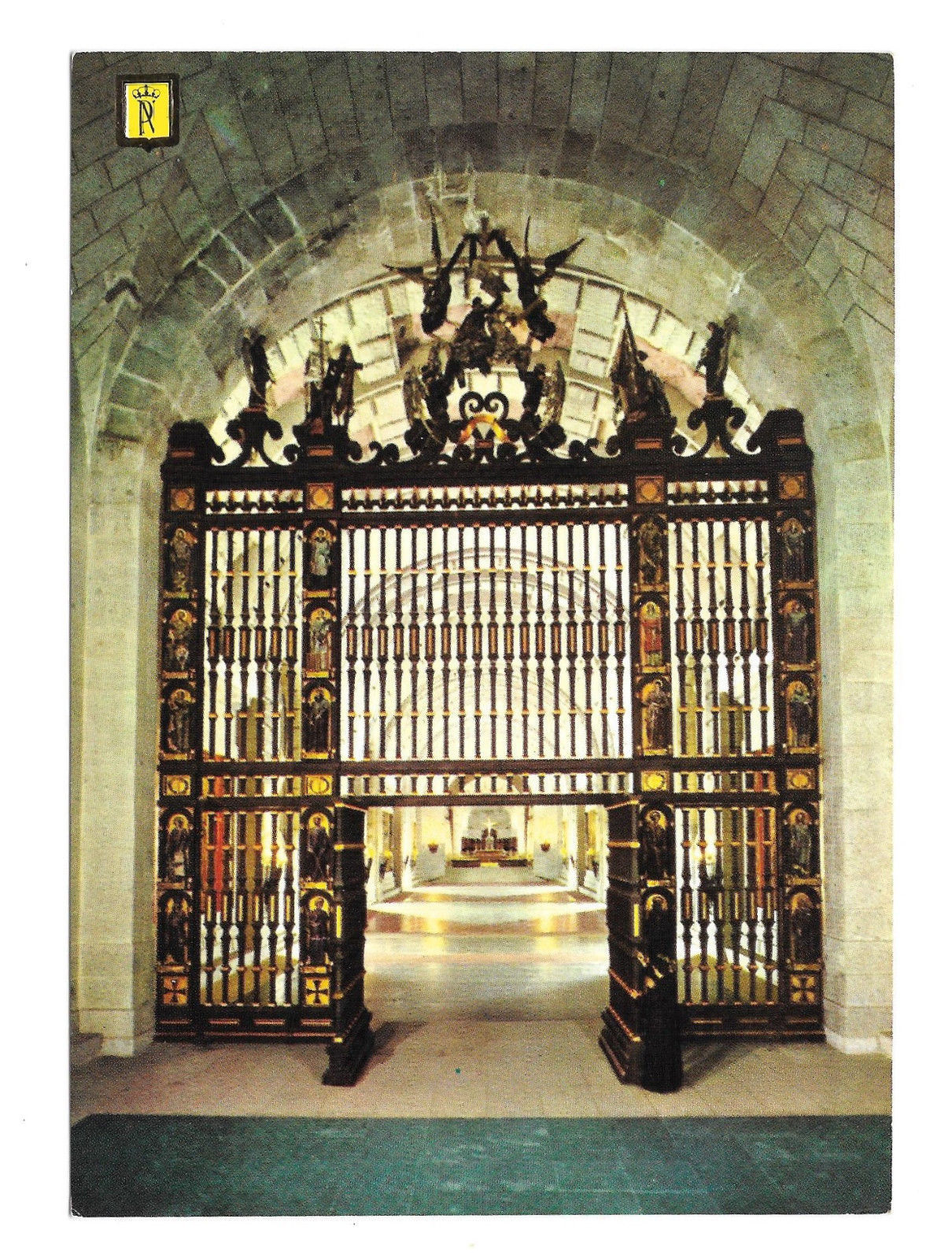 Spain Santa Cruz Valle de Los Caidos Iron Gate Crypt Church Vtg Postcard 4X6
