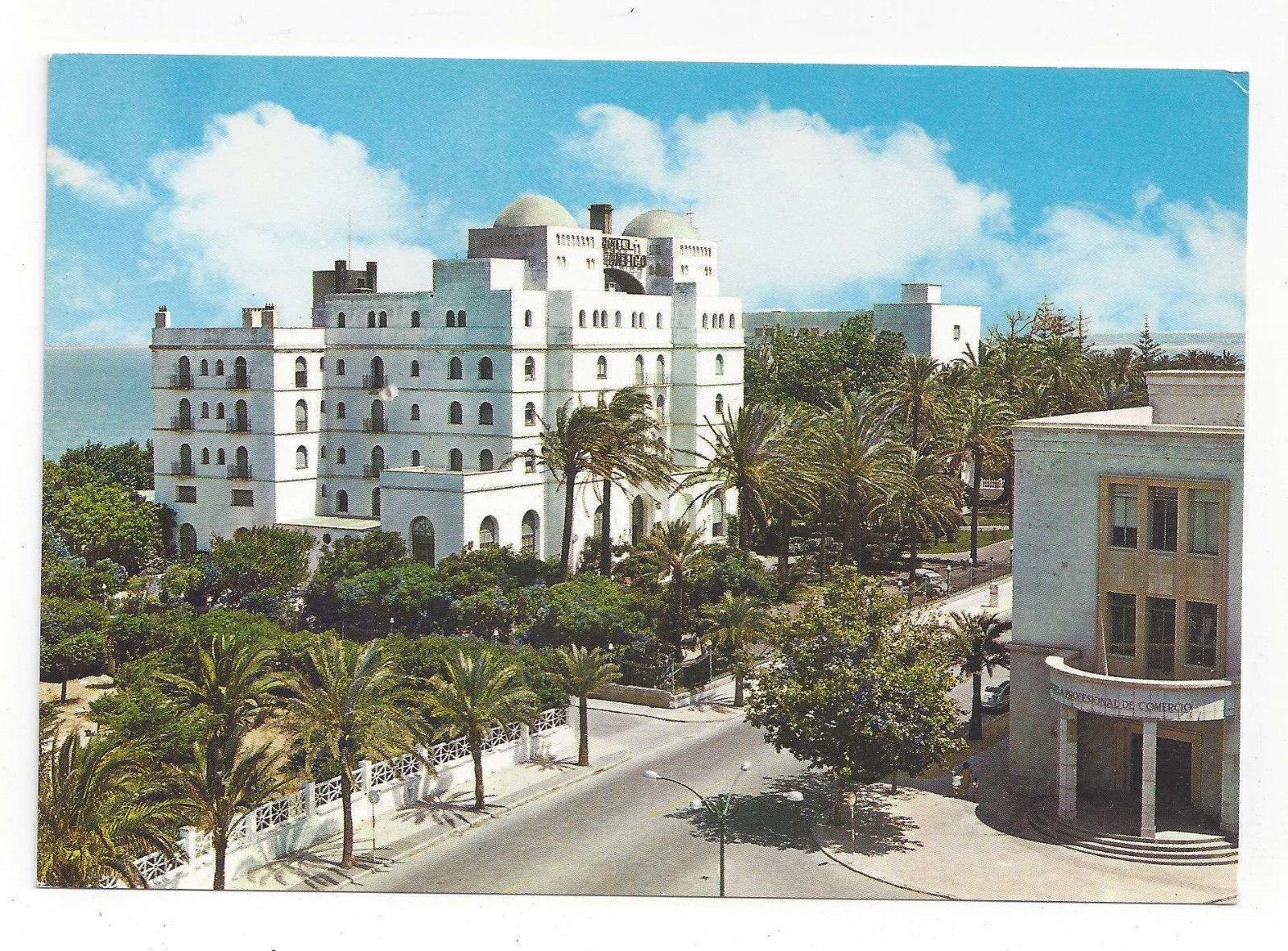 Spain Cadiz Hotel Atlantico Vtg Postcard 4X6