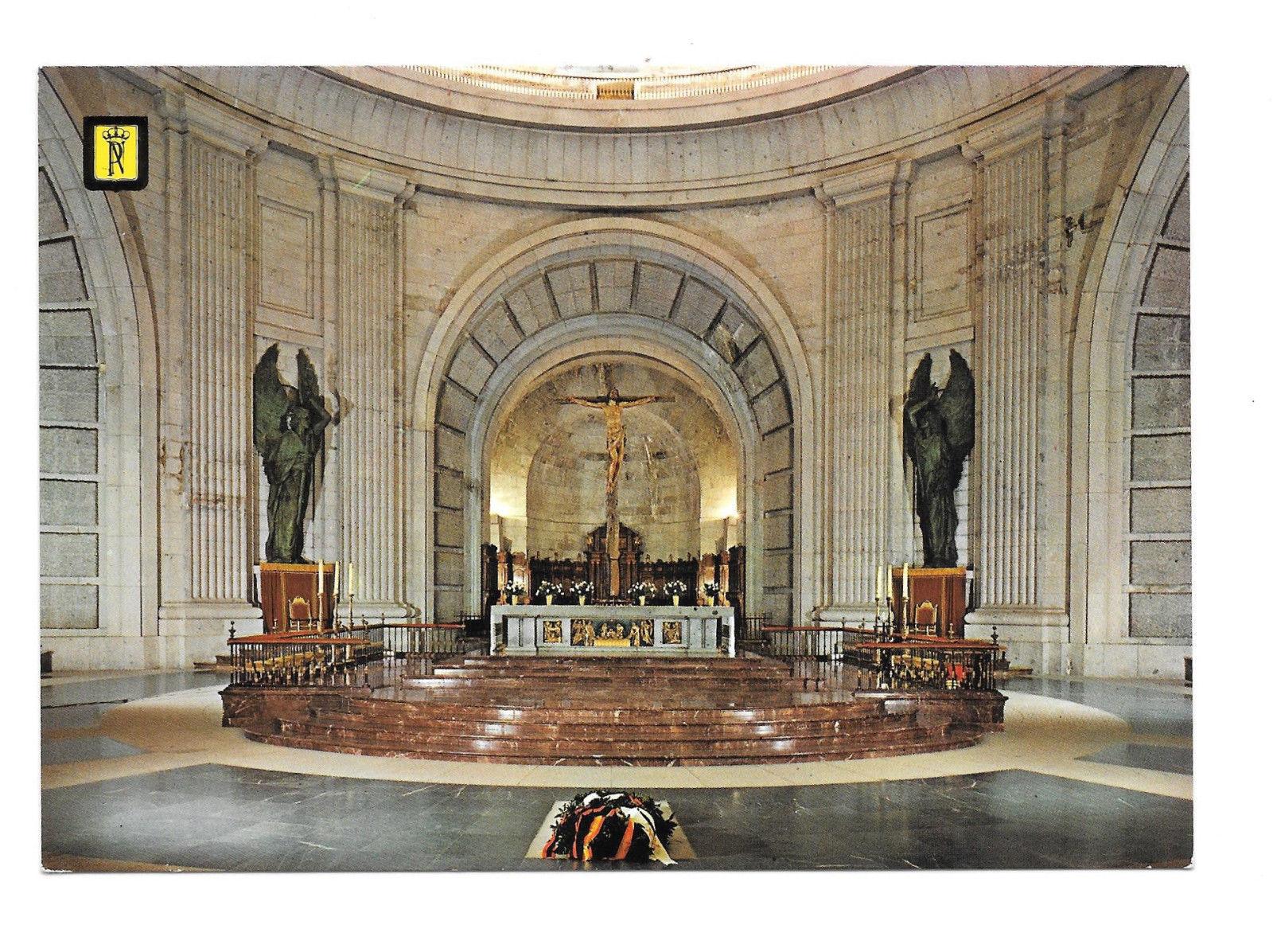 Spain Santa Cruz Valle de Los Caidos Main Altar Crypt Church Vtg Postcard 4X6