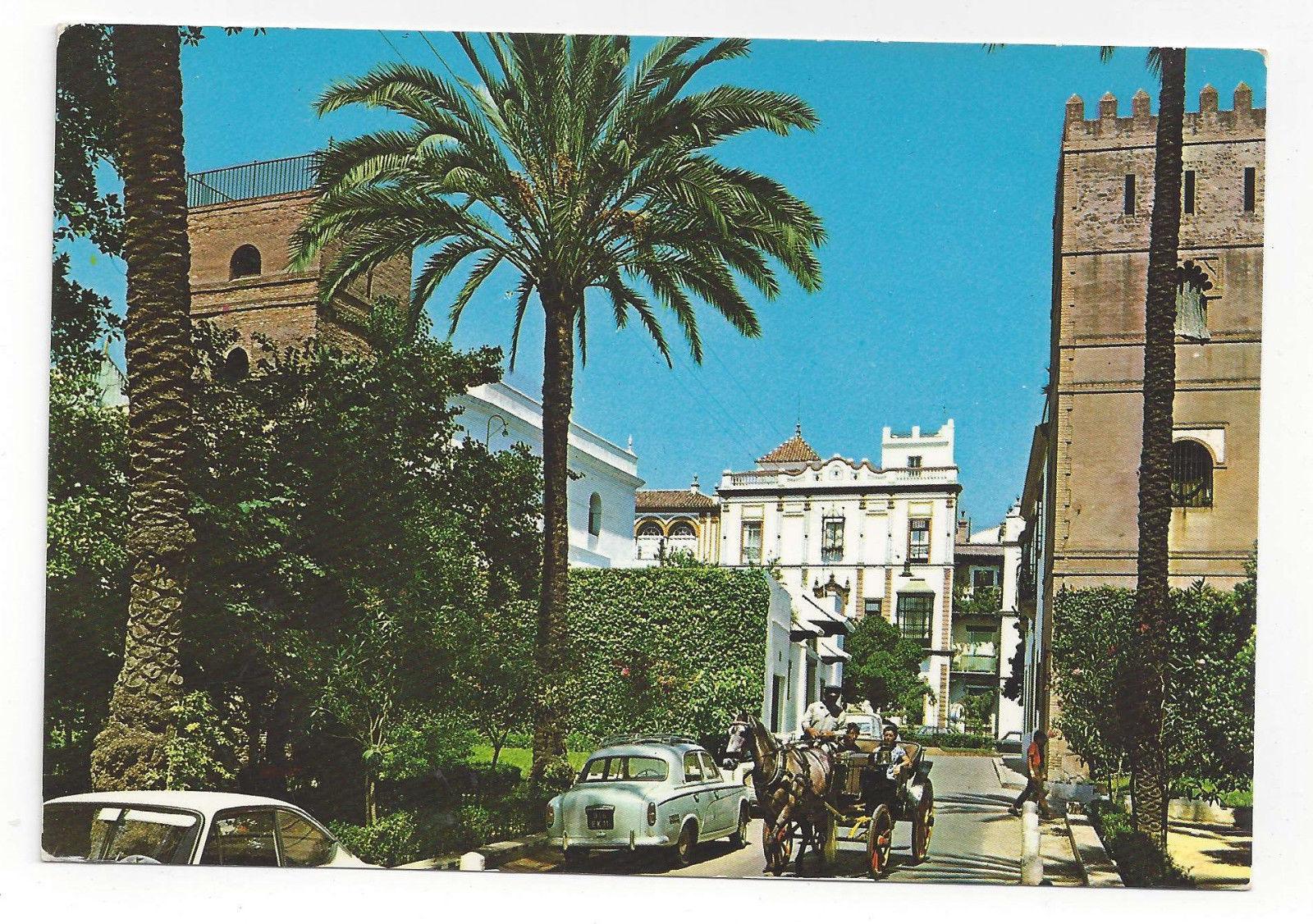 Spain Sevilla Santa Cruz Quarter Horse Drawn Cab Vtg Postcard 4X6 Seville