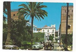 Spain Sevilla Santa Cruz Quarter Horse Drawn Cab Vtg Postcard 4X6 Seville - $6.17