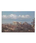 TWA Greece Athens The Acropolis In Flight with TWA Vtg Advertising Postcard - $6.17