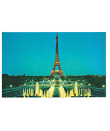 TWA Paris Eiffel Tower from Trocadero In Flight with TWA Advertising Pos... - $6.45