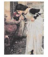 The Shrine John William Waterhouse Vtg Art Postcard 4X6 Le Tombeau Sepulcro - $4.74