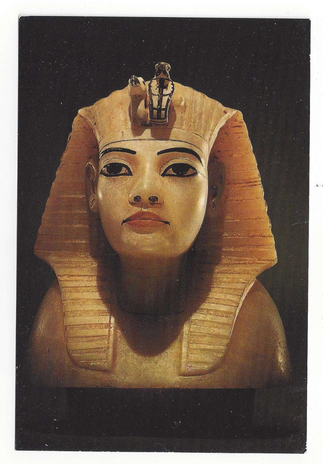 Treasures of Tutankhamen Egyptian Art Postcard 4X6 Stopper from Canopic Chest