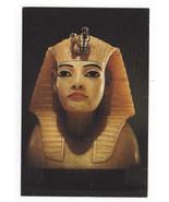 Treasures of Tutankhamen Egyptian Art Postcard 4X6 Stopper from Canopic ... - $7.40