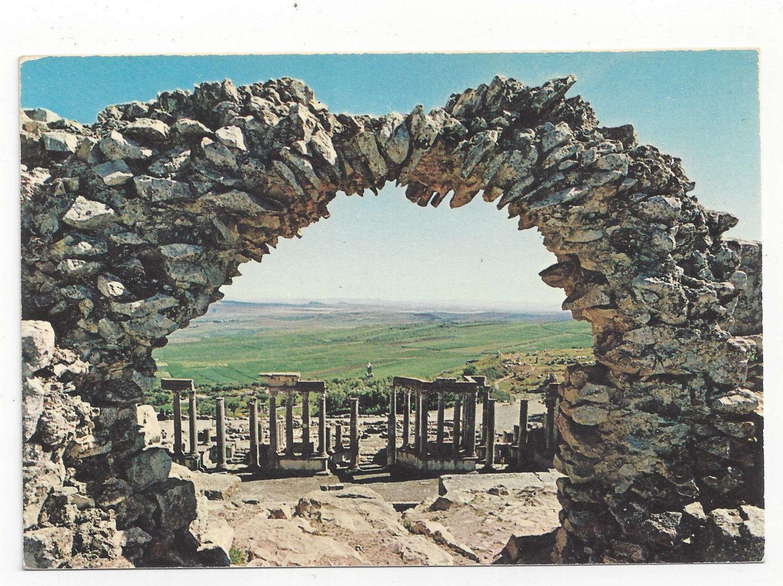 Tunisia Dougga Thugga Ancient Roman Theater Vtg Postcard 4X6