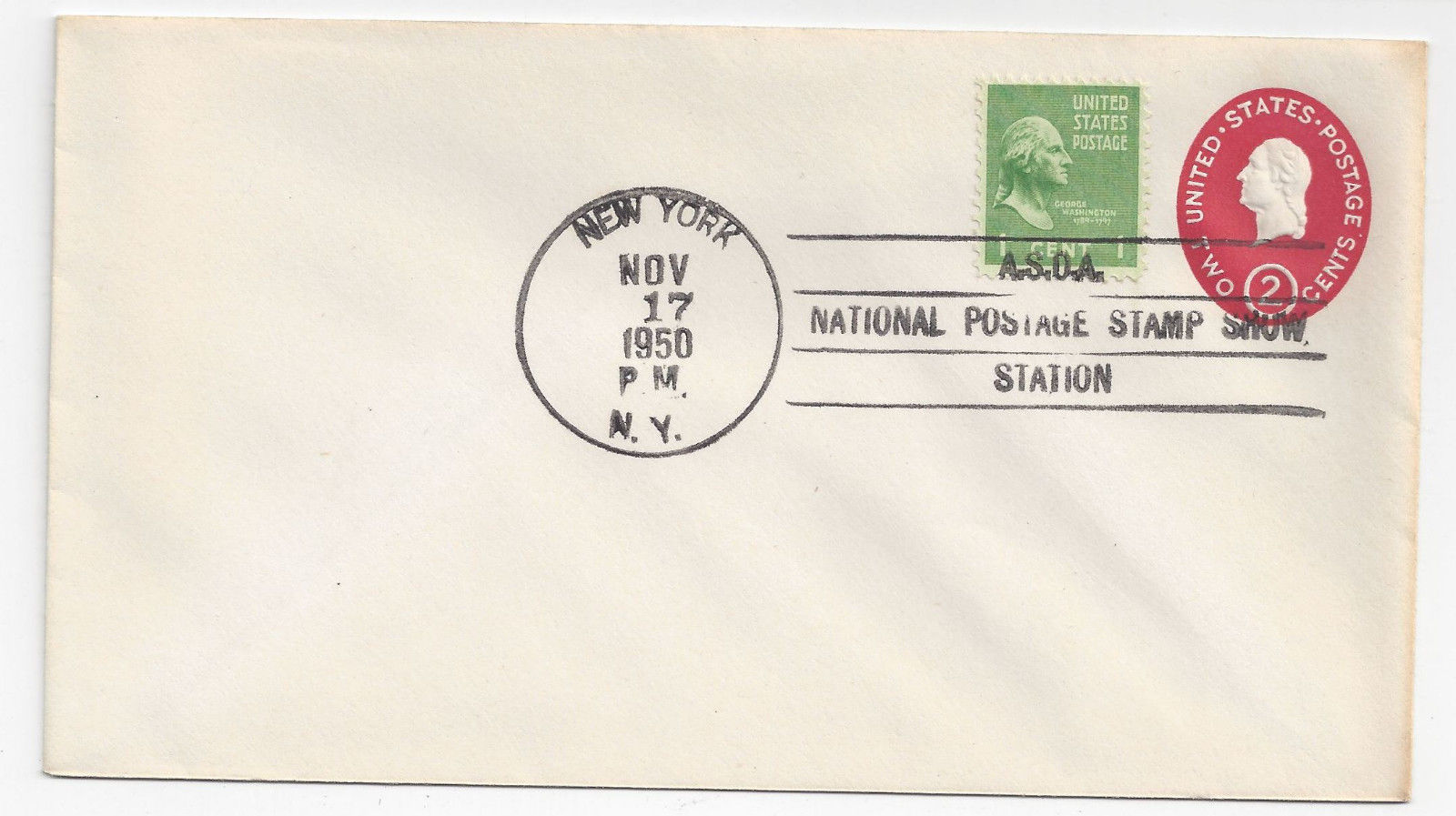 U533 FDC National Postage Stamp Show Station Cancel NY 1950