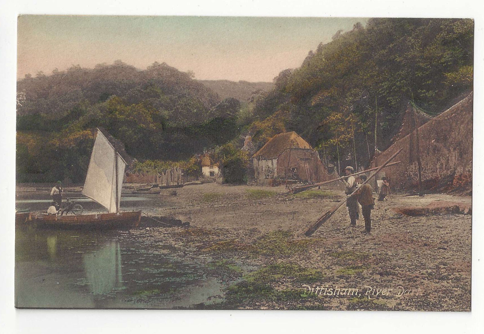 UK Devon Dittisham Dart River Vtg Frith's ca 1910 Postcard