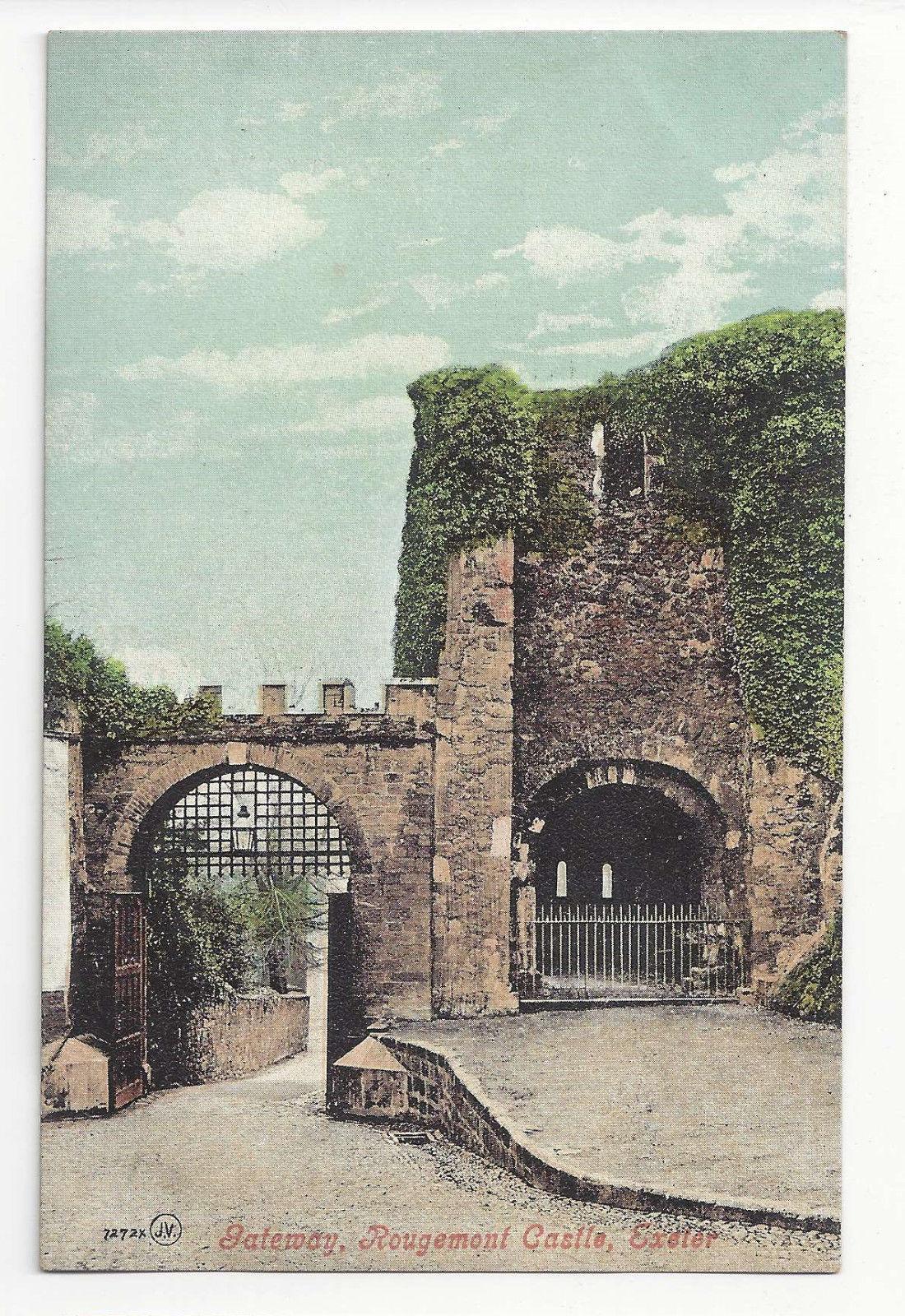 UK Devon Exeter Rougemont Castle Gateway Vtg ca 1910 Valentine's Postcard