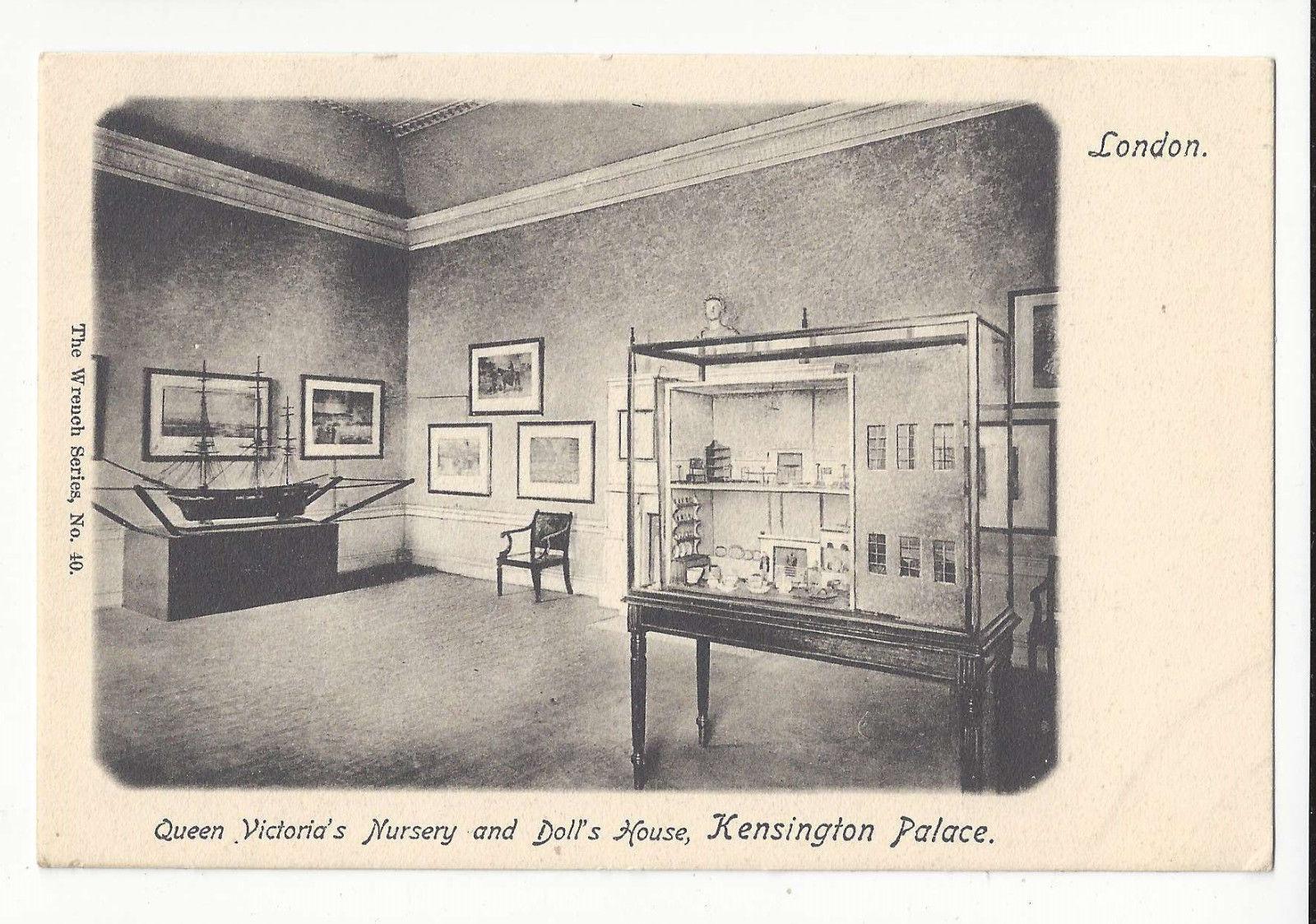 UK England Kensington Palace Queen Victorias Nursery Doll House Vtg UDB Postcard