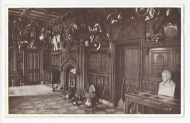 UK Scotland Abbotsford House Entrance Hall Valentines Vintage Postcard - $6.45