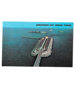 VA Cheaspeake Bay Bridge Tunnel US Route 13 Man Made Island Vtg Postcard - $4.74