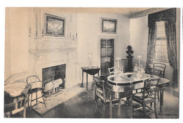 VA Mount Vernon Family Dining Room Vtg Almours Securities Postcard - $6.17